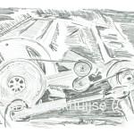 tekening maaimachine