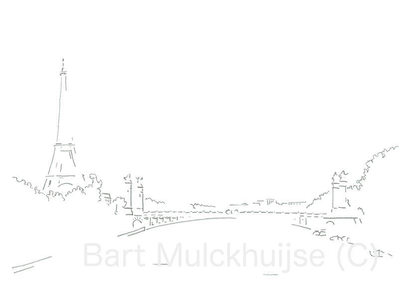 tekening-eiffeltoren-parijs