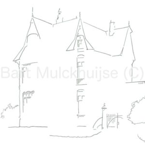 tekening villa Rozenhof in Leiden