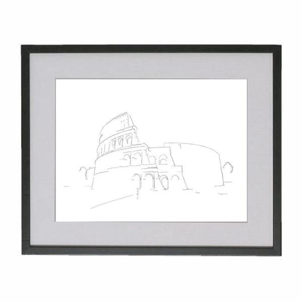 colosserum-tekening-rome-ingelijst