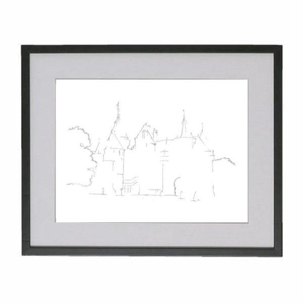 kasteel-de-haar-zuylen-utrecht-zwarte-lijst
