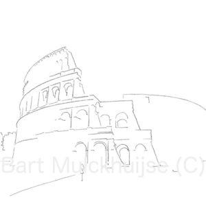 tekening-colosseum-rome