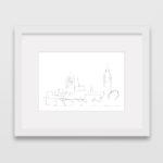 tekening-westmonster-palace-big-ben-lijst